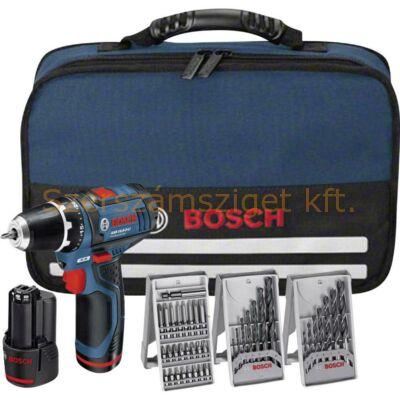 Bosch GSR 10,8-2 Li Akkus fúró-csavarozó + 39 részes tartozék készlettel