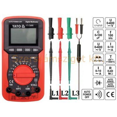 Yato Digitális multiméter (YT-73086)