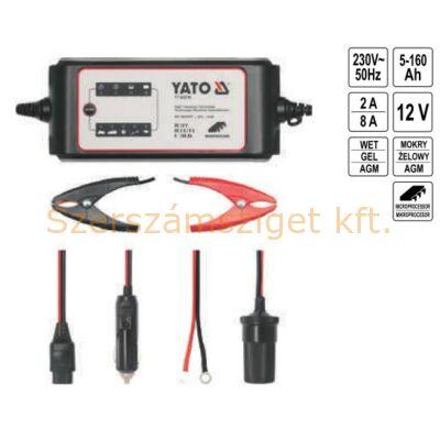 Yato Elektronikus akkumulátor töltő 8A (YT-83016)