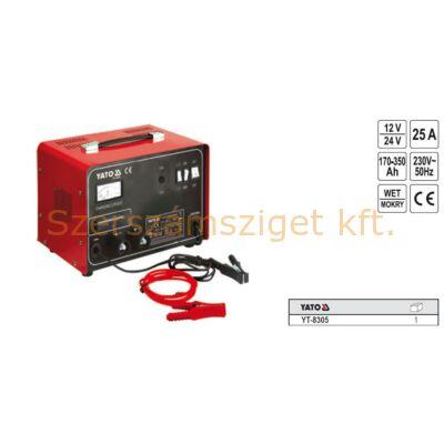 Yato Akkumulátor töltő boost funkcióval 25A (YT-8305)