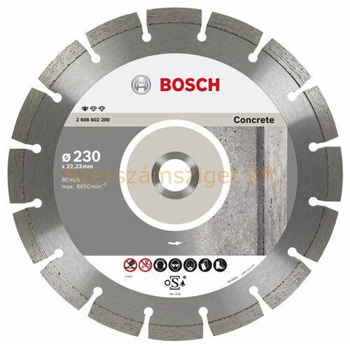 Bosch Gyémánttárcsa 230-22,23 beton