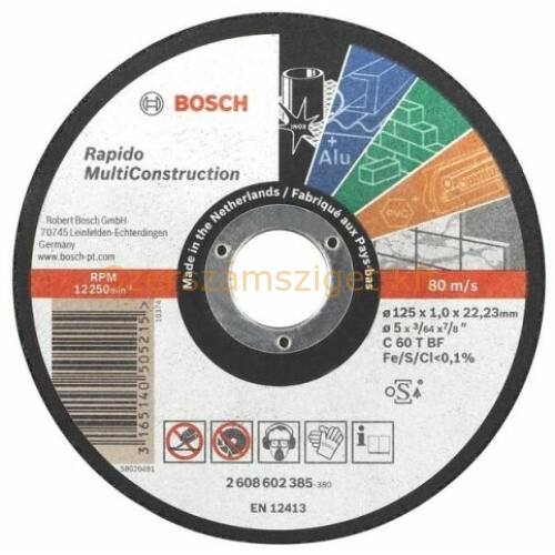Bosch Vágótárcsa Rapido MC 125x1.0 ALU