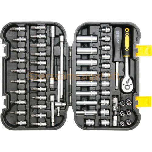 Vorel Dugókulcs készlet racsnis hajtókarral 56 részes