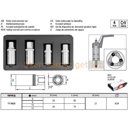 Yato Komplett tűkihúzó készlet 4 részes (YT-0620)