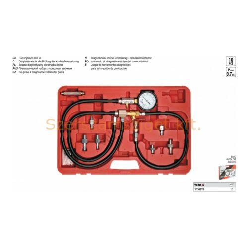 Yato Diagnosztikai készlet üzemanyag befecskendezőhöz (YT-0670)