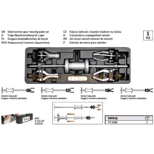 Yato Csúszósúlyos csapágylehúzó készlet 5 részes (YT-2540)