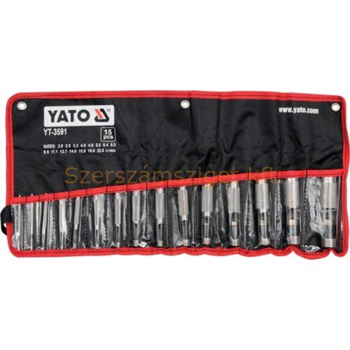 Yato Bőrlyukasztó készlet 15részes (YT-3591)