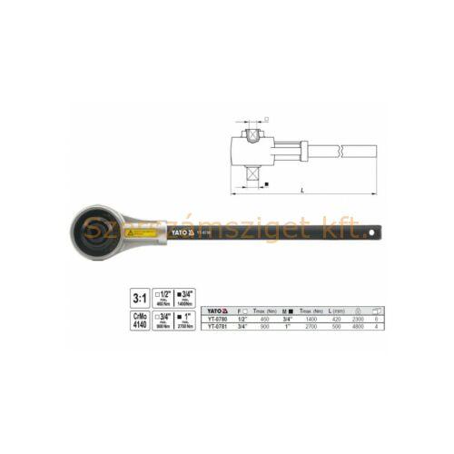 """Yato Nyomatéksokszorozó 3:1, 3/4""""-1"""" , 900-2700 Nm (YT-0781)"""